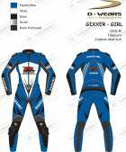 "L�derdragt ""GIXXER-GIRL"" GSXR-Eblue/White/Black-TI"